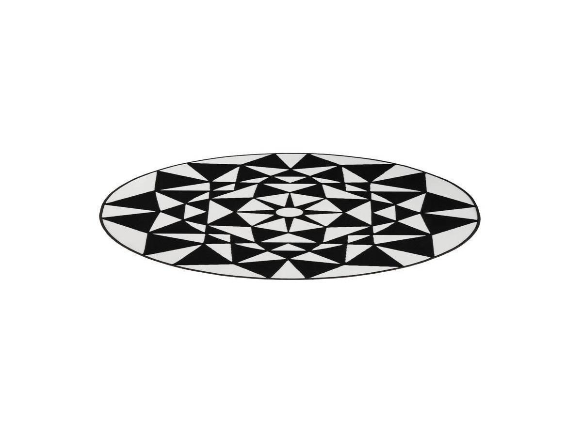 Tapis YOUMKA Blanc/ Noir Ø 160cm RUND