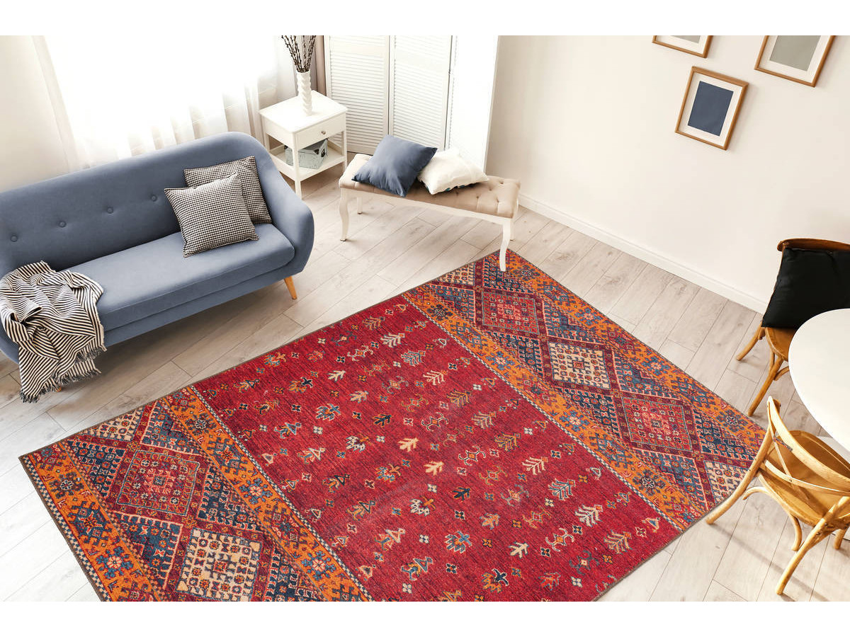 Tapis ASSA Multicolor / Rouge 80cm x 150cm1