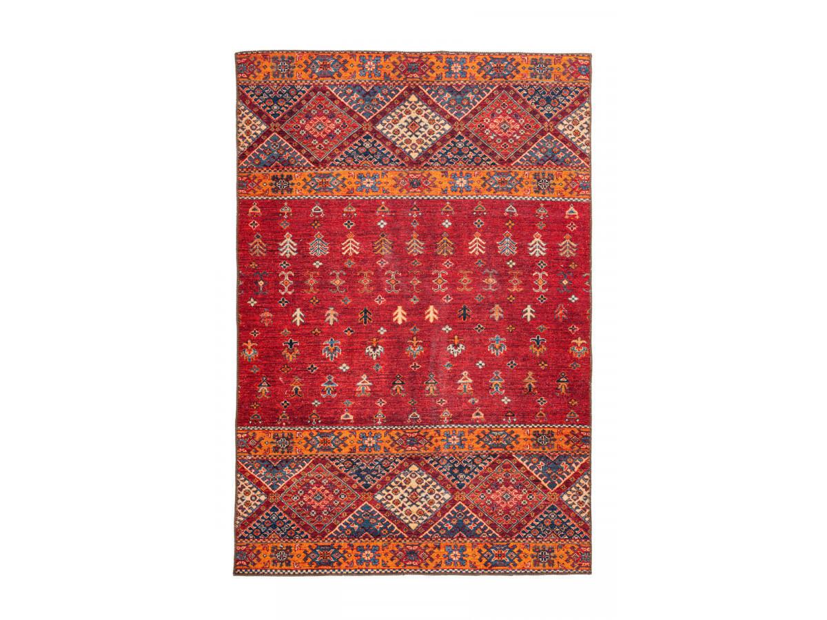 Tapis ASSA Multicolor / Rouge 80cm x 150cm3