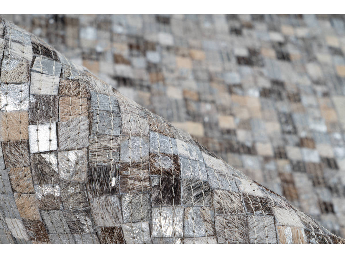 Tapis TORI Gris / Argenté 160cm x 230cm4