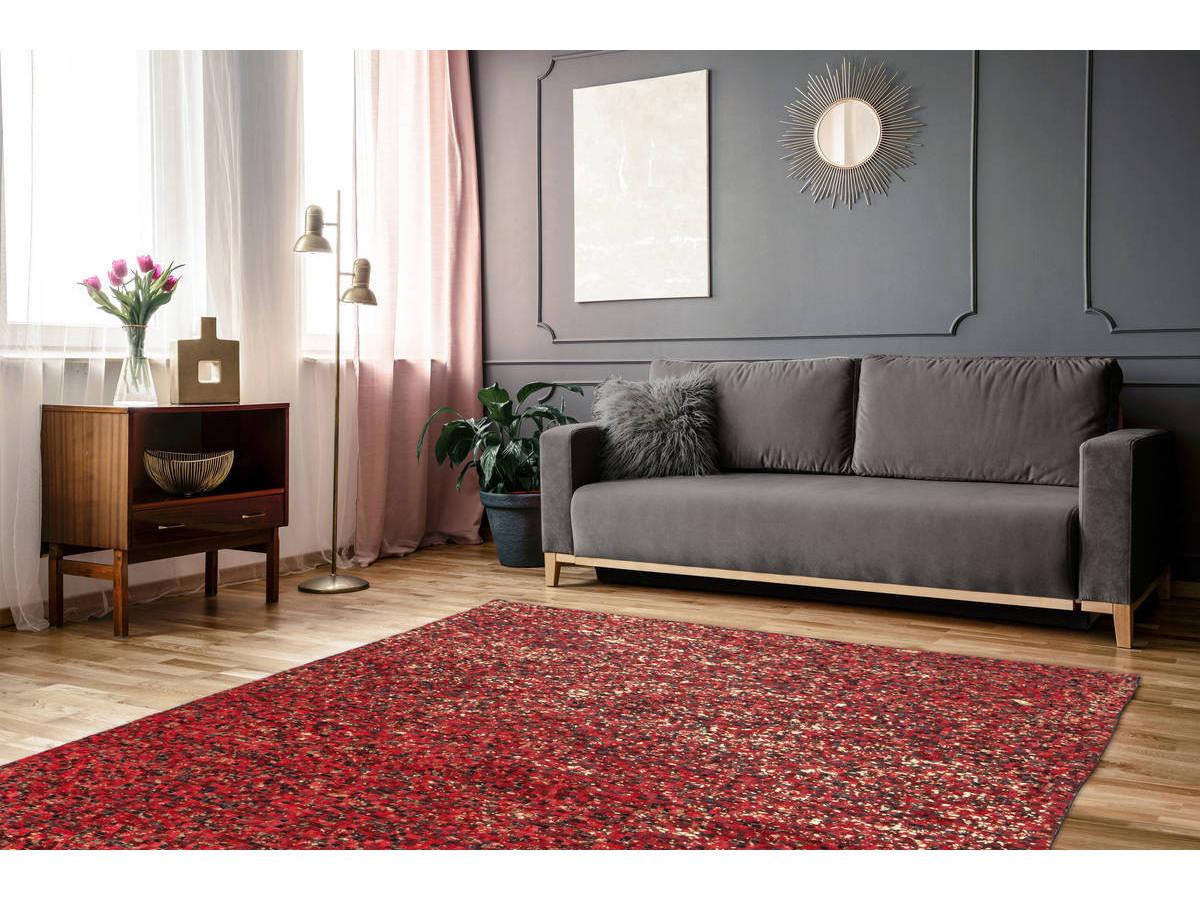 Tapis TORI Rouge / Doré 160cm x 230cm1