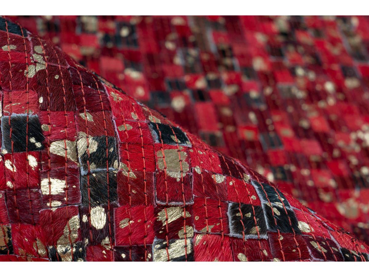 Tapis TORI Rouge / Doré 160cm x 230cm4