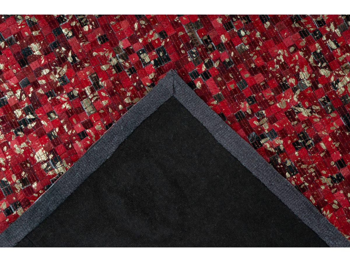 Tapis TORI Rouge / Doré 160cm x 230cm5