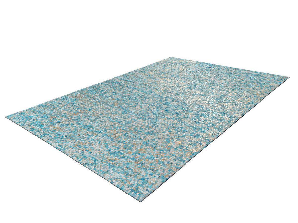 Tapis TORI Turquoise / Doré 80cm x 150cm