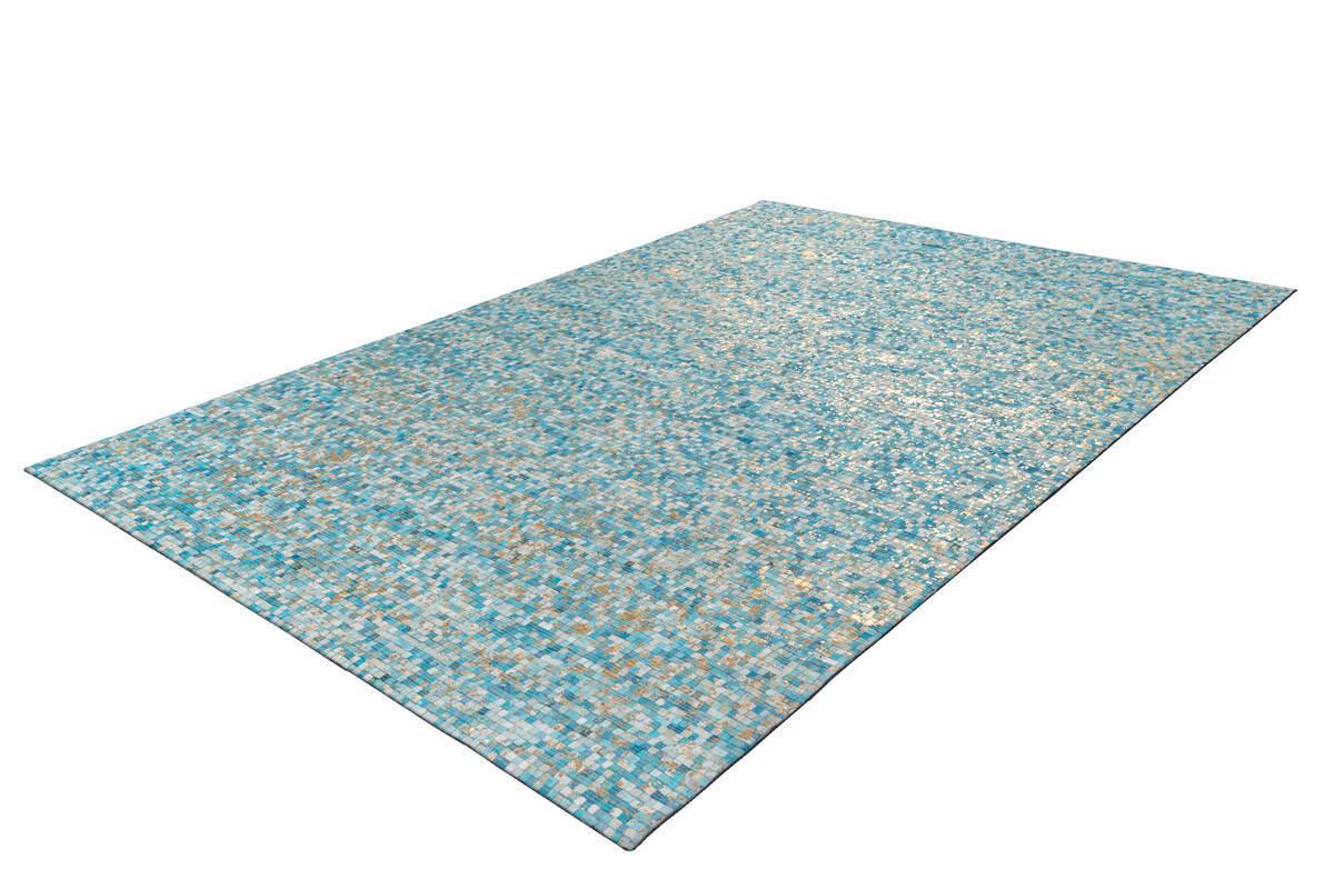 Tapis TORI Turquoise / Doré 80cm x 150cm2