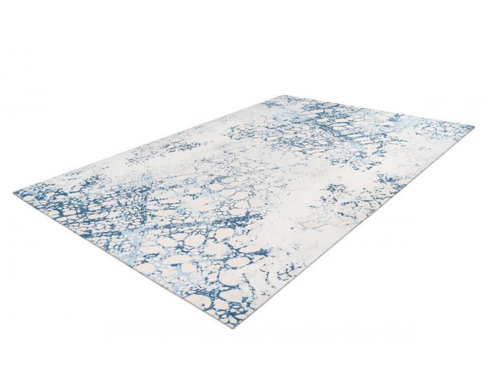 Tapis IDELIA Crème / Bleu 80cm x 150cm