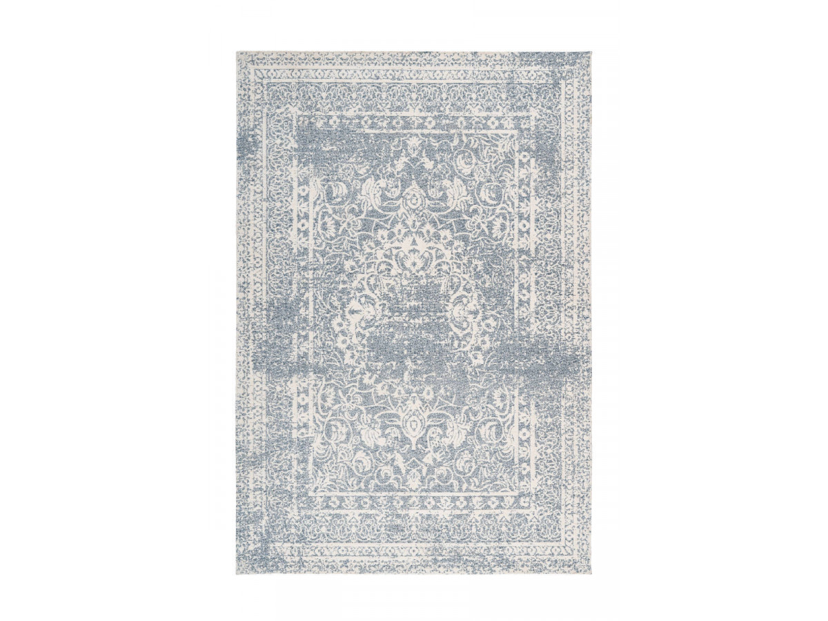 Tapis VINTO Crème / Bleu 80cm x 150cm3