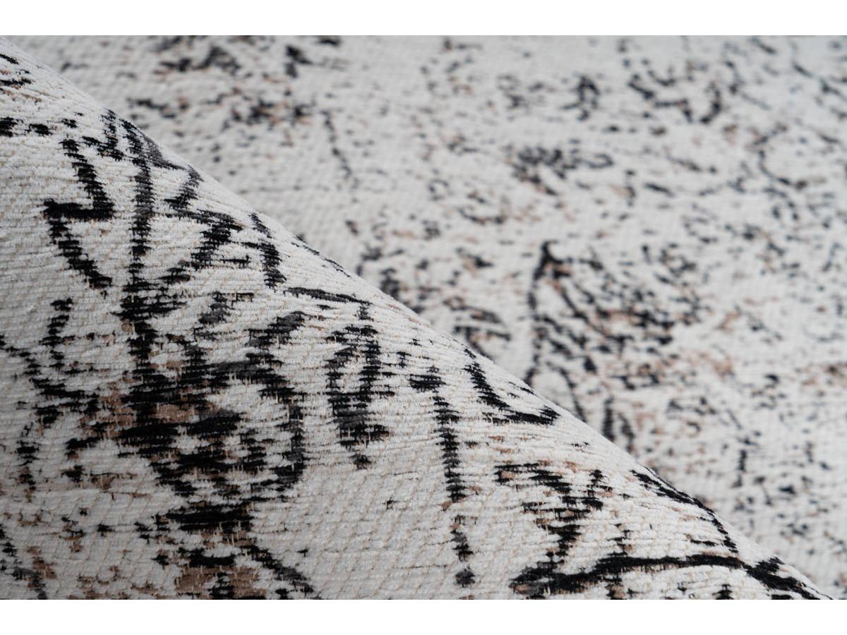 Tapis VINTO Anthracite / Crème 80cm x 150cm4
