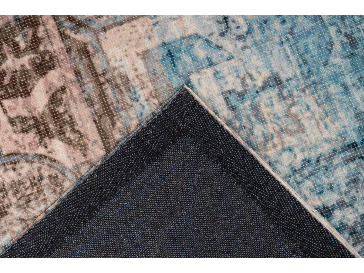 Tapis APACHE Bleu / Marron 120cm x 170cm5