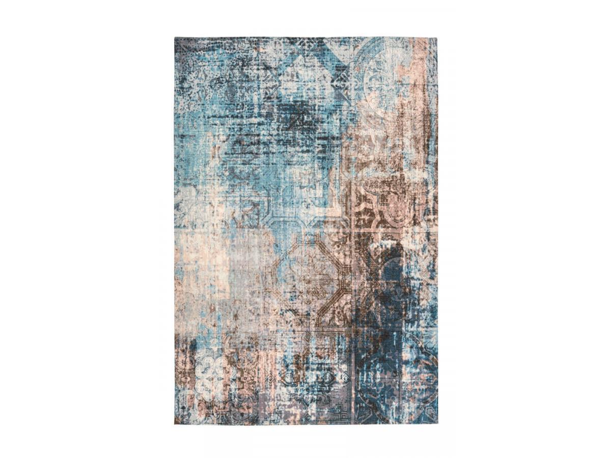 Tapis APACHE Bleu / Marron 200cm x 290cm3