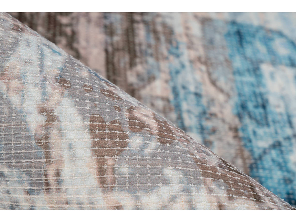 Tapis APACHE Bleu / Marron 200cm x 290cm4