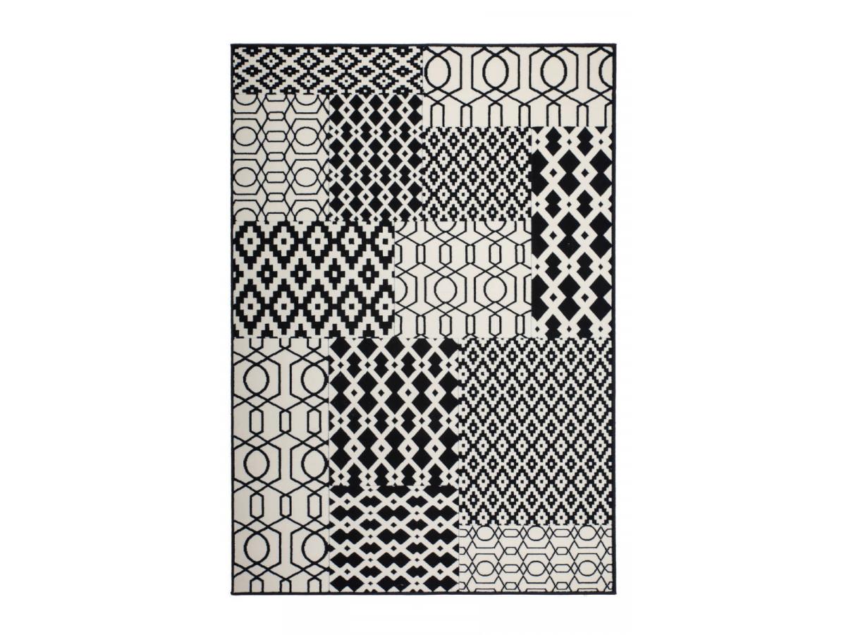 Tapis IRMA Multicolor / Noir 80cm x 150cm3