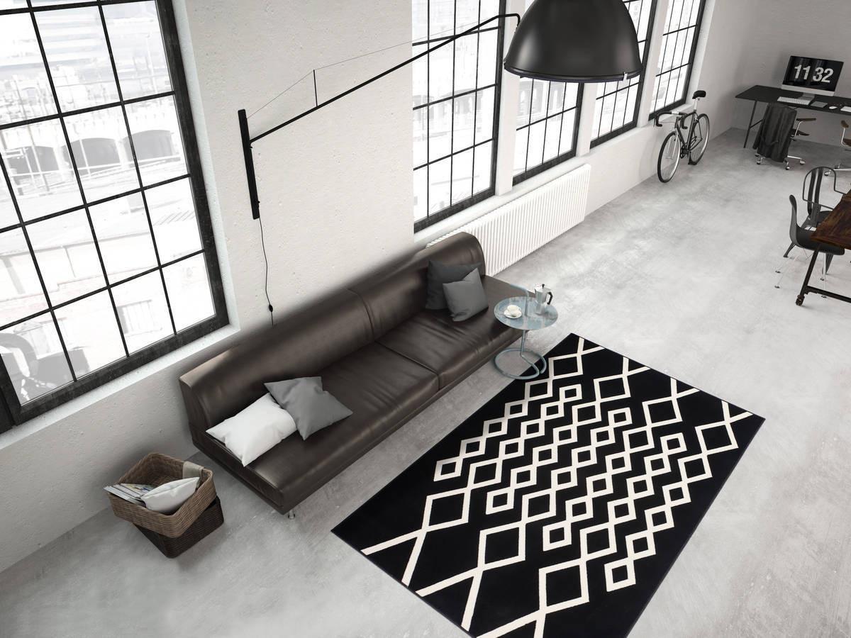 Tapis IGLI Noir / Ivoire 160cm x 230cm1