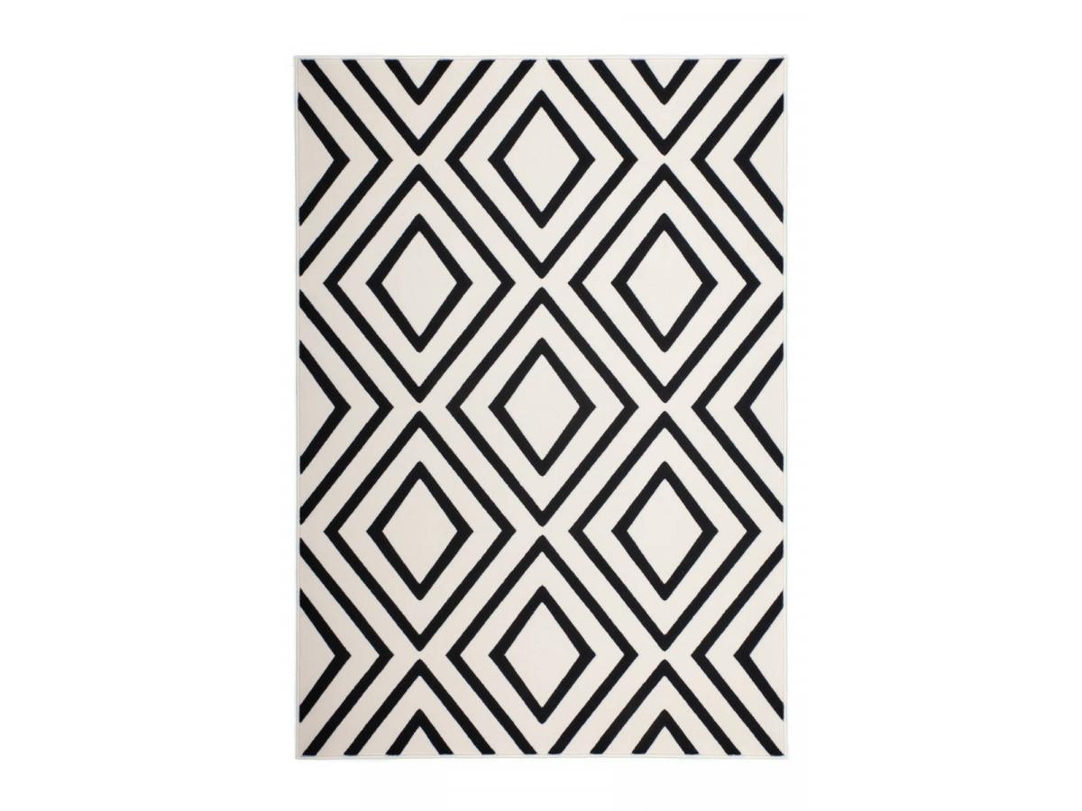 Tapis ZAGORA Ivoire / Noir 80cm x 150cm3