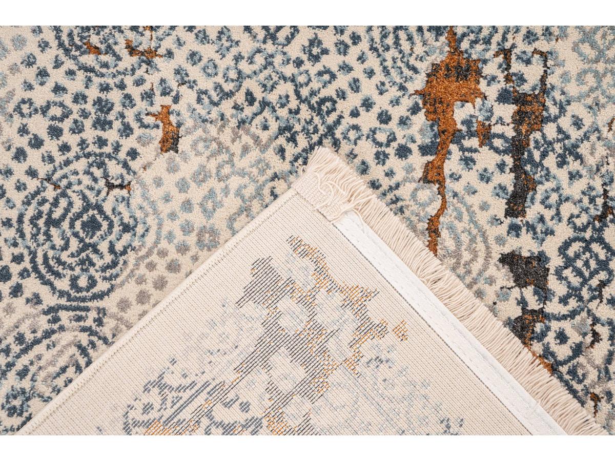 Tapis TENZO Gris / Orange 160cm x 230cm5