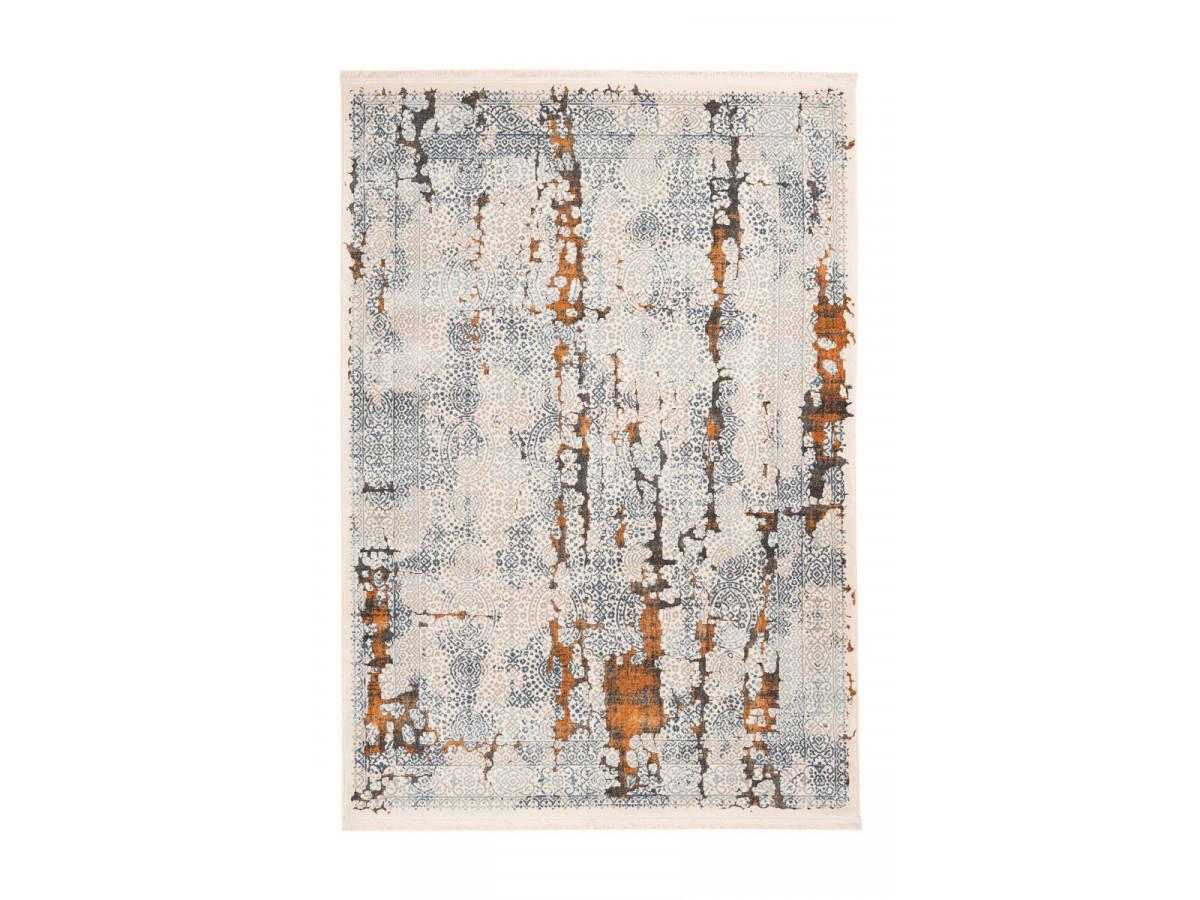 tapis tenzo gris orange 80cm x 150cm