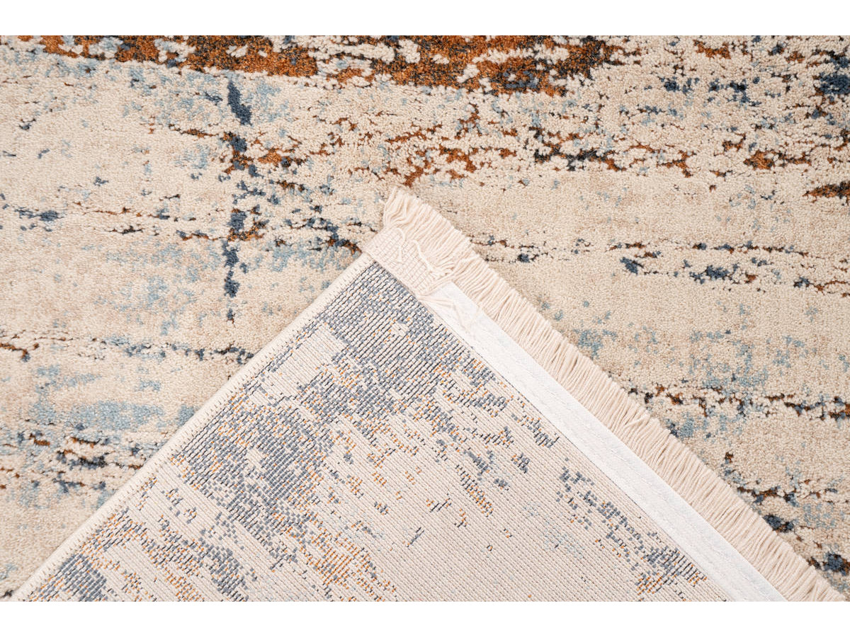 Tapis TENZO Gris / RostRouge 160cm x 230cm5