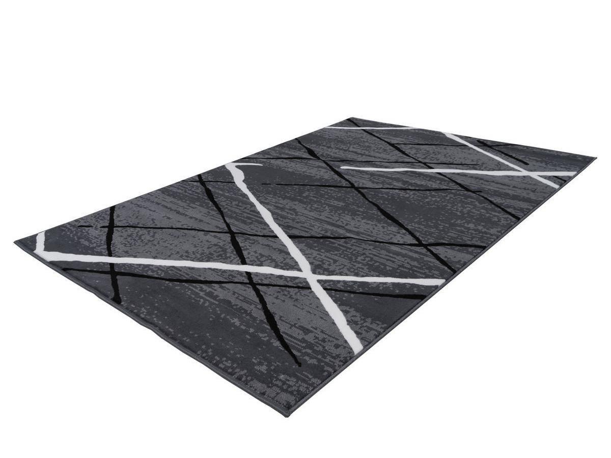 Tapis KRISTA Anthracite / Noir / Blanc 120cm x 170cm