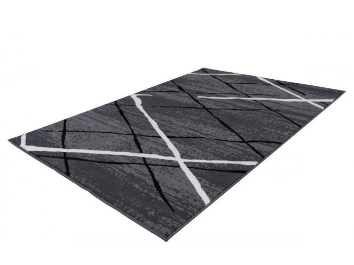 Tapis KRISTA Anthracite / Noir / Blanc 200cm x 290cm