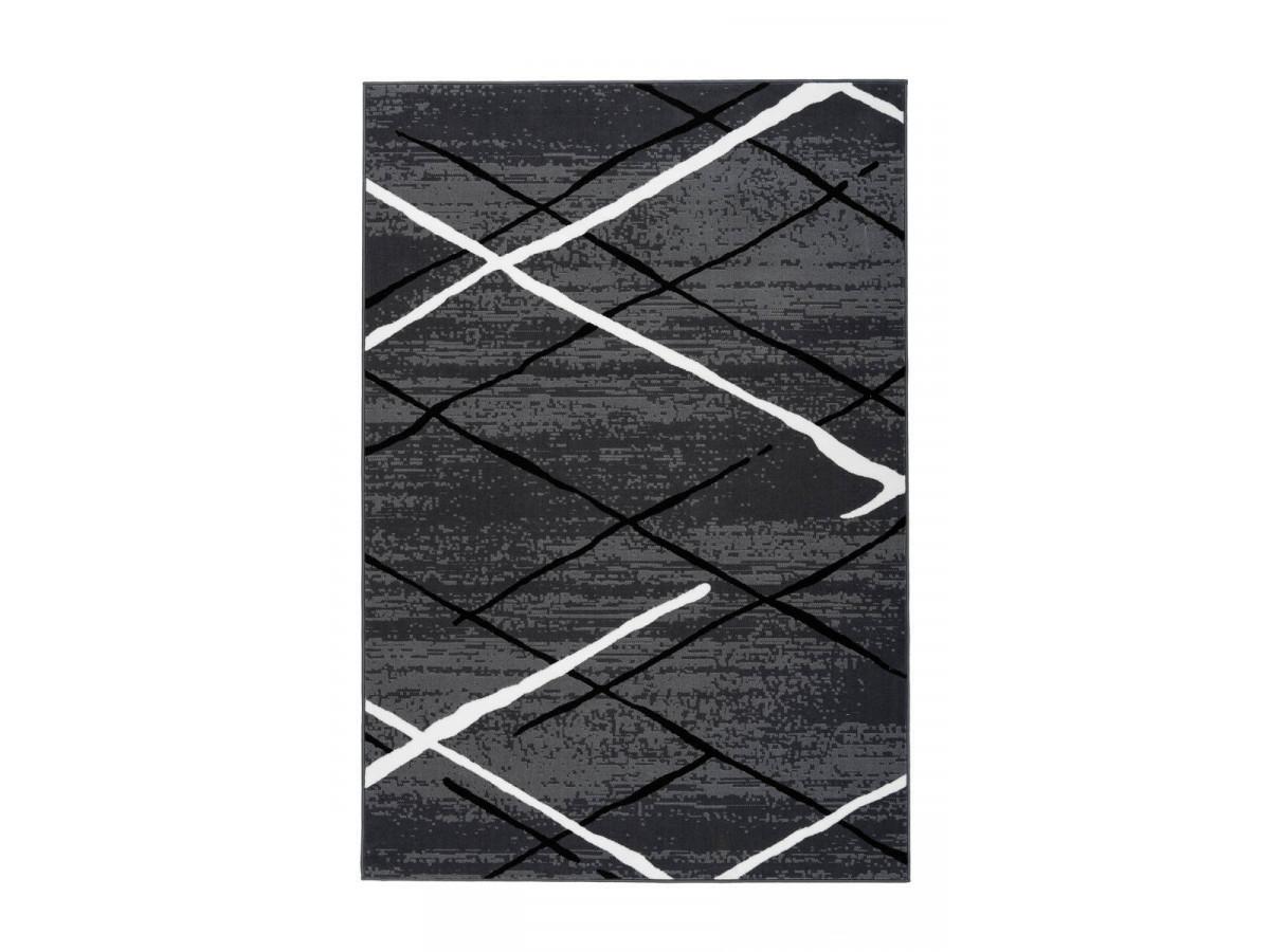 Tapis KRISTA Anthracite / Noir / Blanc 200cm x 290cm3