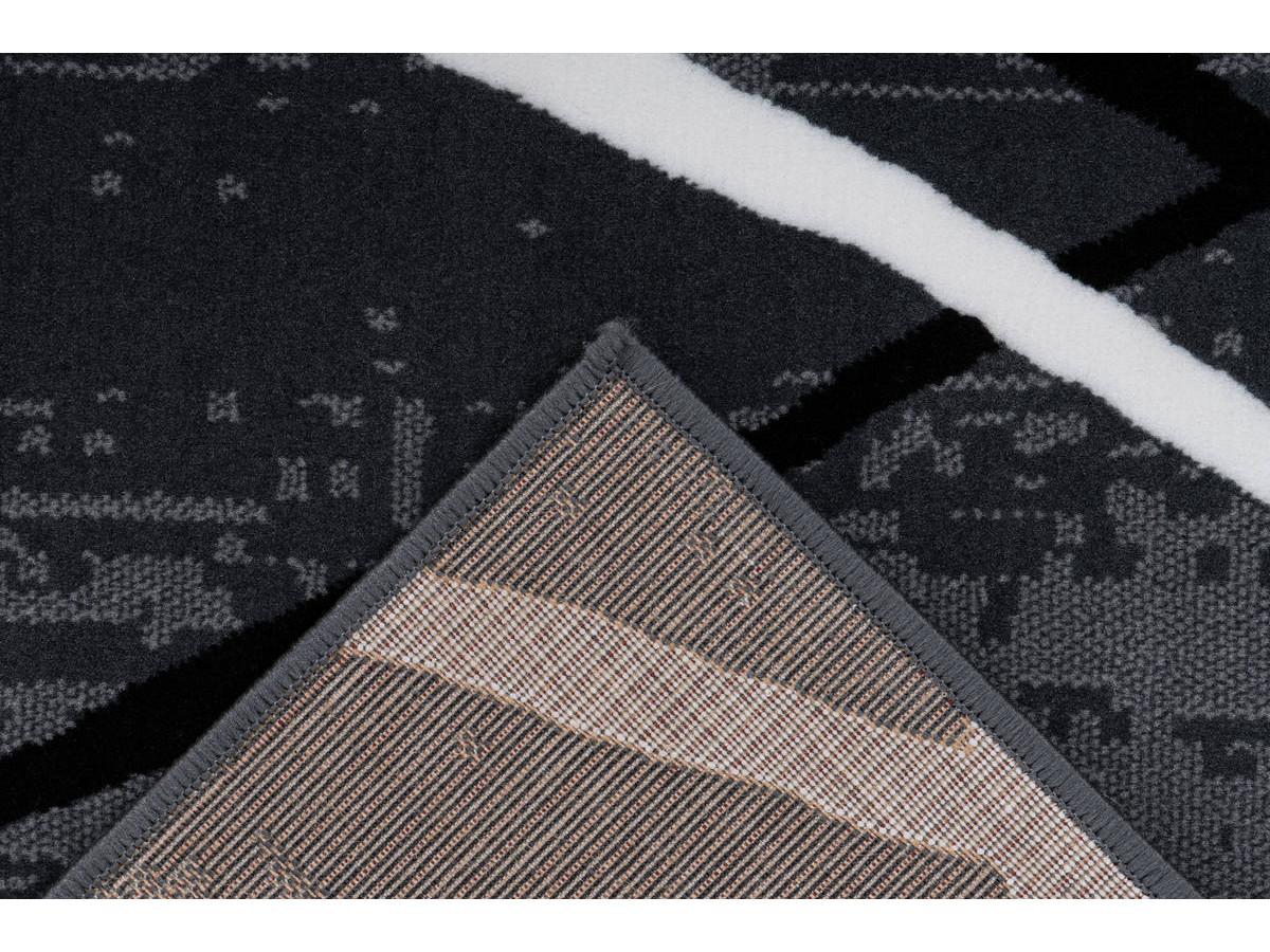 Tapis KRISTA Anthracite / Noir / Blanc 200cm x 290cm5