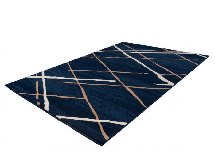 Tapis KRISTA Bleu / Beige / Blanc 200cm x 290cm