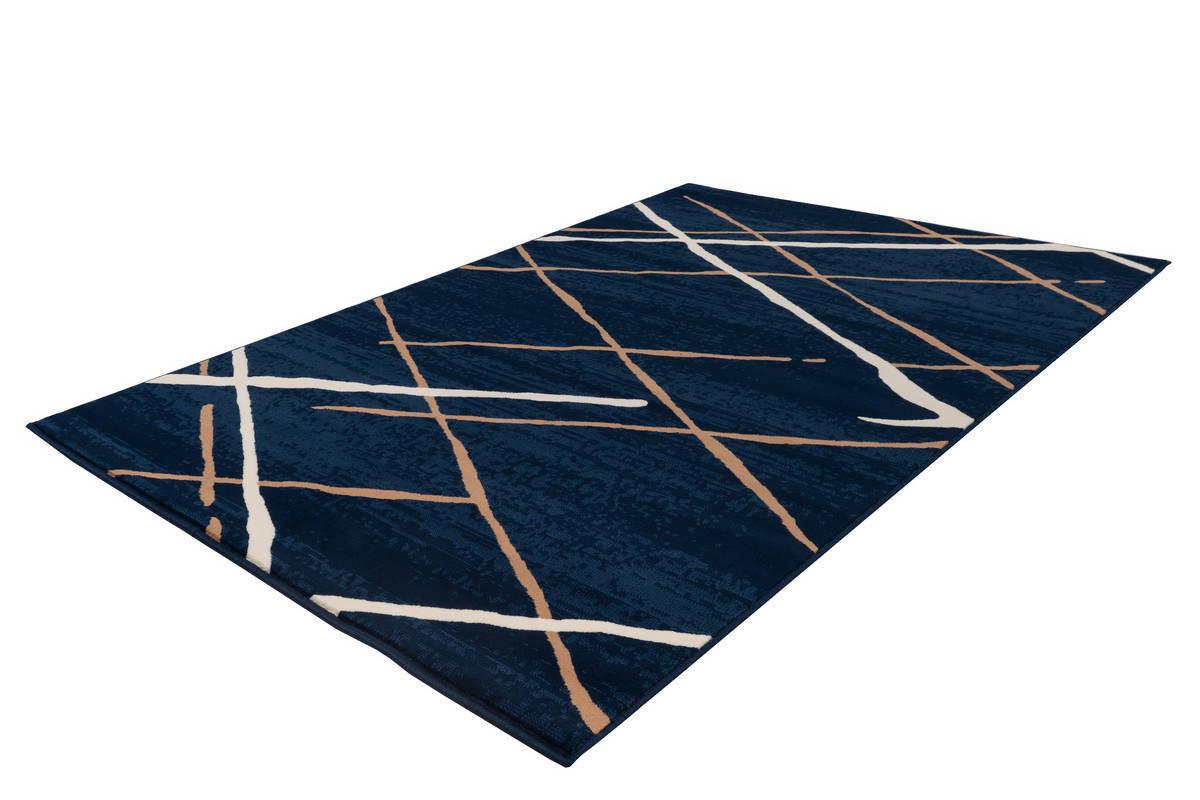 Tapis KRISTA Bleu / Beige / Blanc 80cm x 150cm2