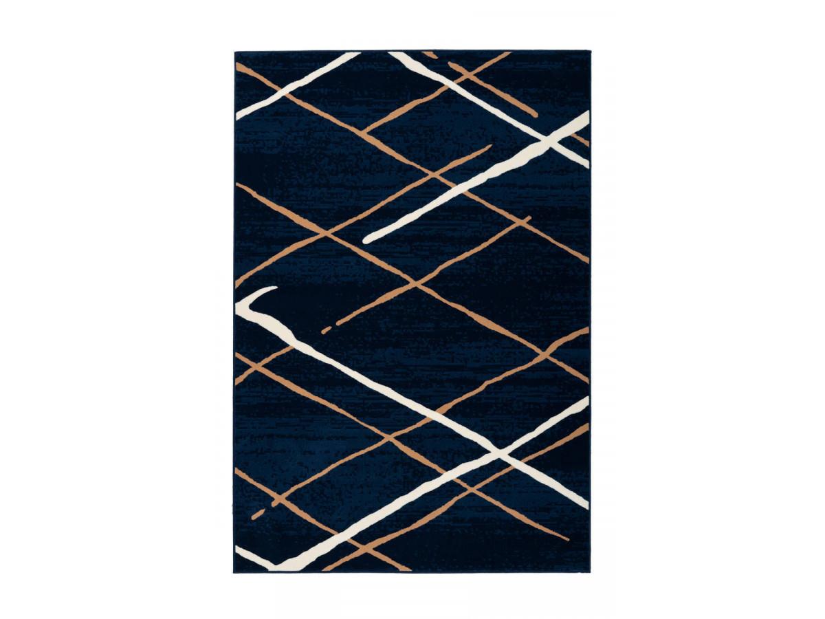Tapis KRISTA Bleu / Beige / Blanc 80cm x 150cm3