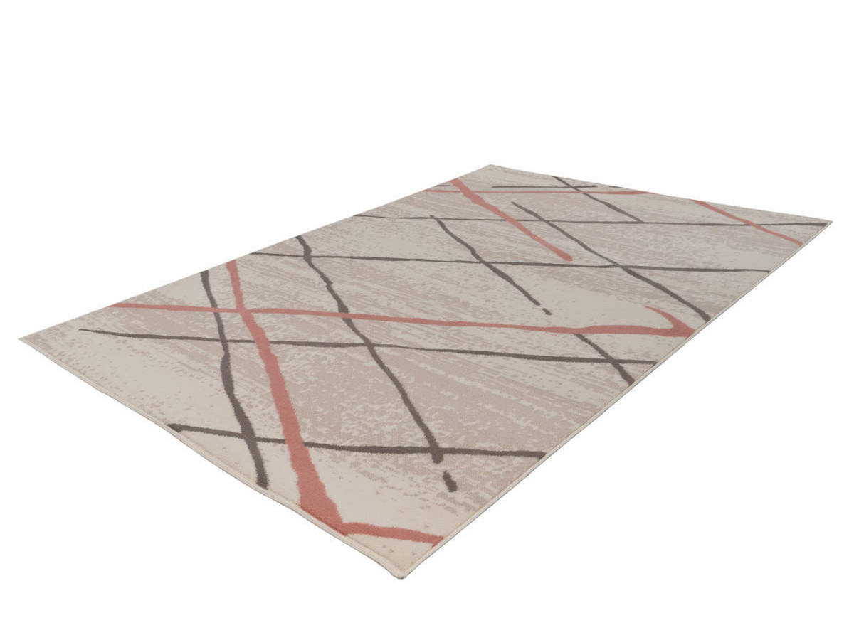 Tapis KRISTA Crème / Marron / Rosé 160cm x 230cm
