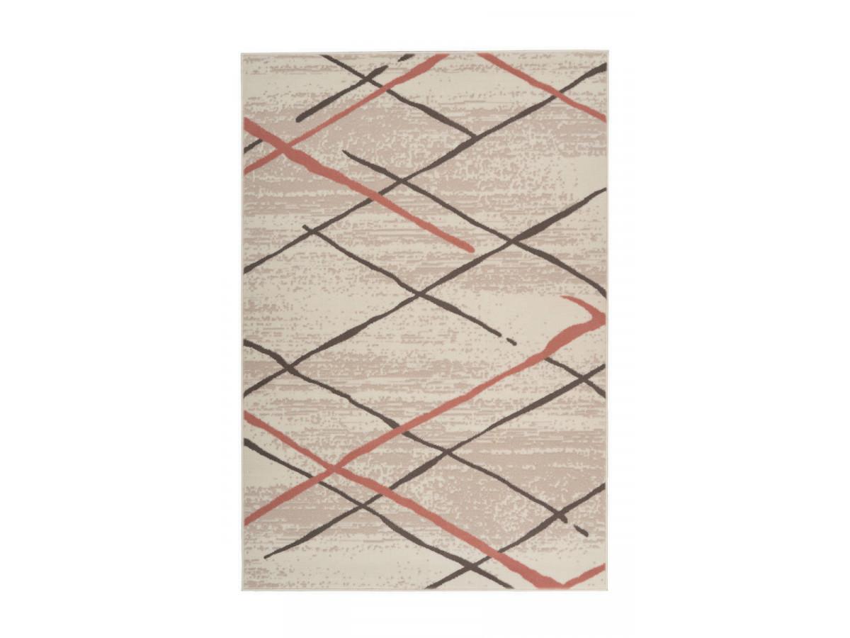 Tapis KRISTA Crème / Marron / Rosé 200cm x 290cm3