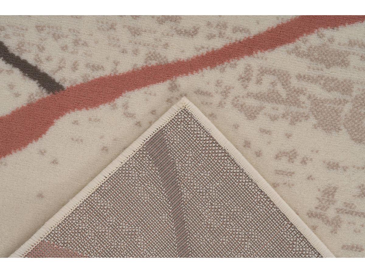 Tapis KRISTA Crème / Marron / Rosé 200cm x 290cm5