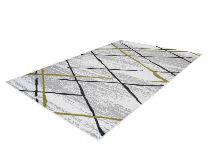 Tapis KRISTA Blanc/ Gris / Kaki 200cm x 290cm
