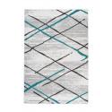 Tapis KRISTA Blanc/ Gris / Turquoise 80cm x 150cm3