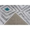 Tapis KRISTA Blanc/ Gris 80cm x 150cm5