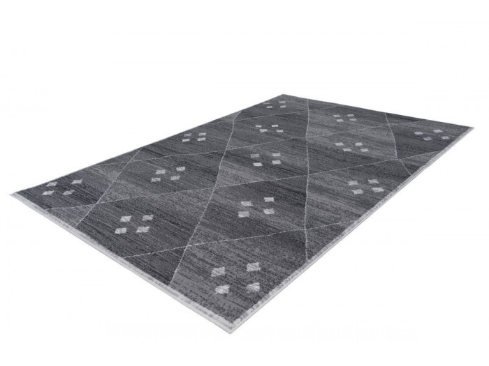 Tapis KRISTA Gris / Blanc 200cm x 290cm