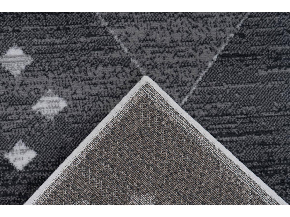 Tapis KRISTA Gris / Blanc 200cm x 290cm5