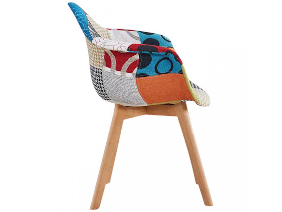 Fauteuil FABIO patchwork multicolore