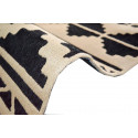 Tapis CUZCO Noir / Blanc 120cm x 170cm