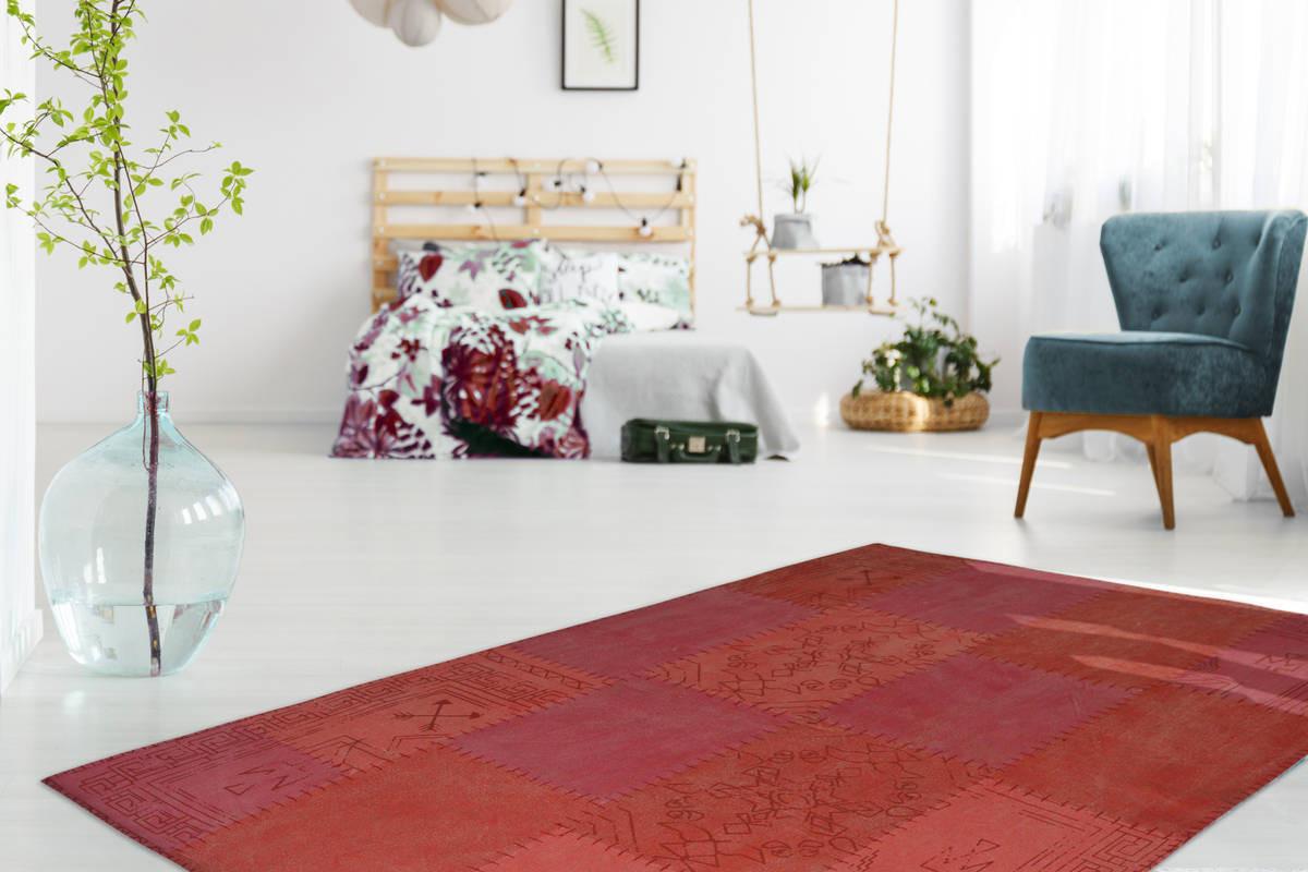 Tapis MISSO Multicolore / Rouge 200cm x 290cm