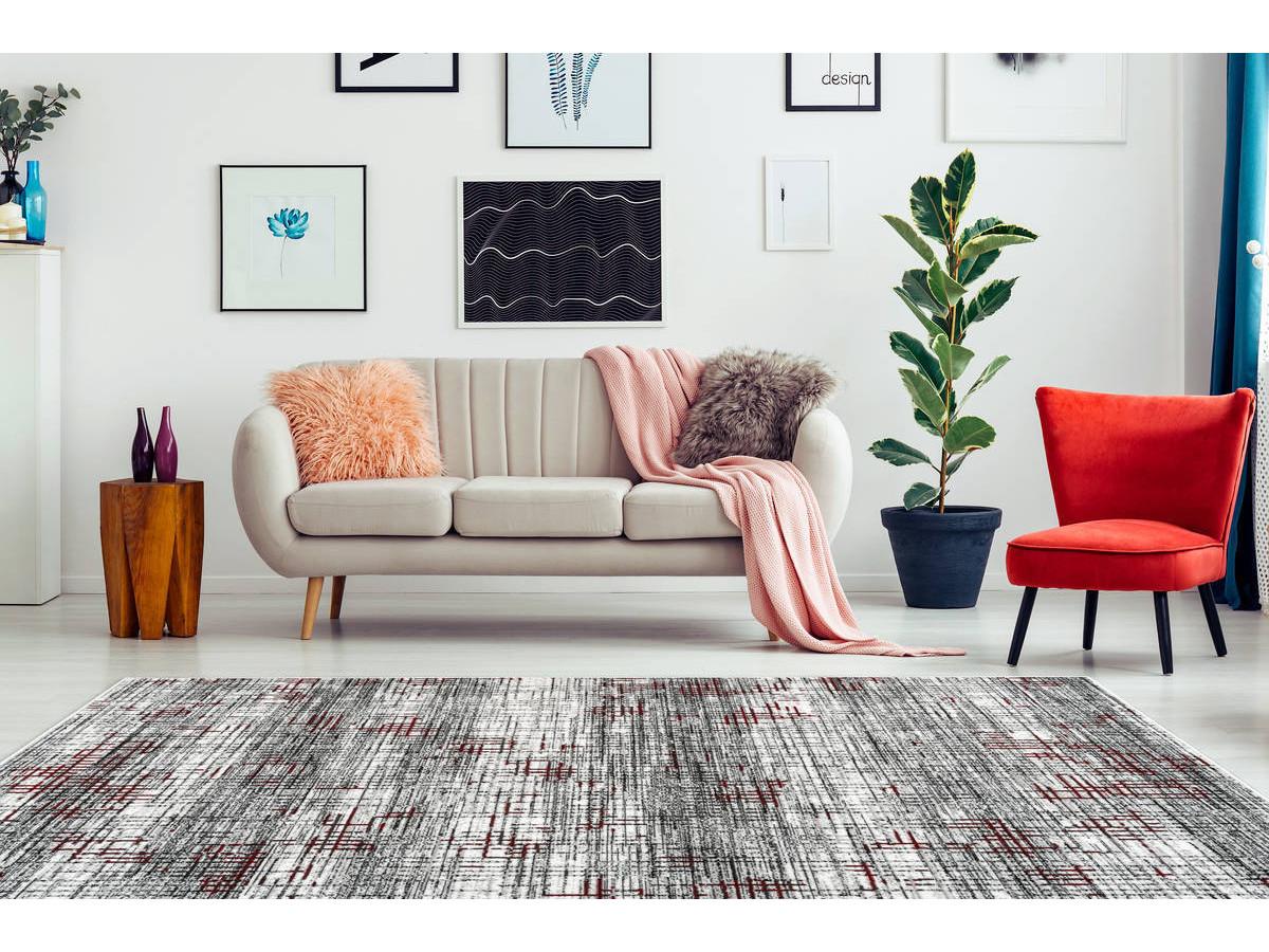 Tapis KRISTA Multicolor / Rouge 120cm x 170cm