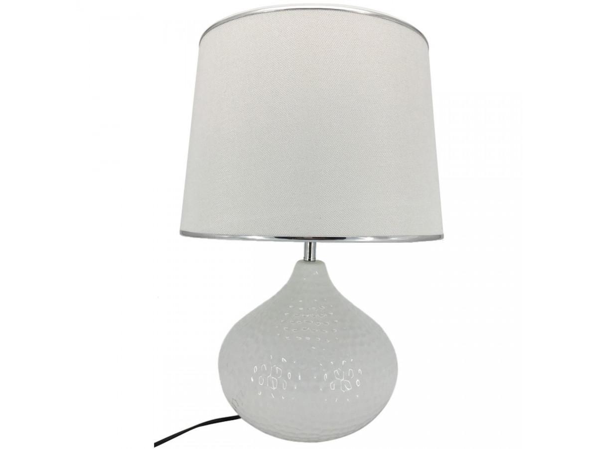 Lampe Sphere céramique Orion Blanc