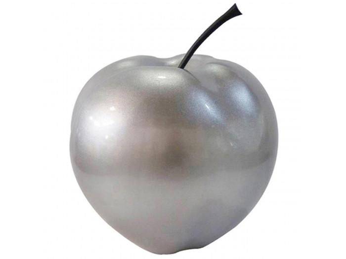 Pomme en résine FINLAY Argent
