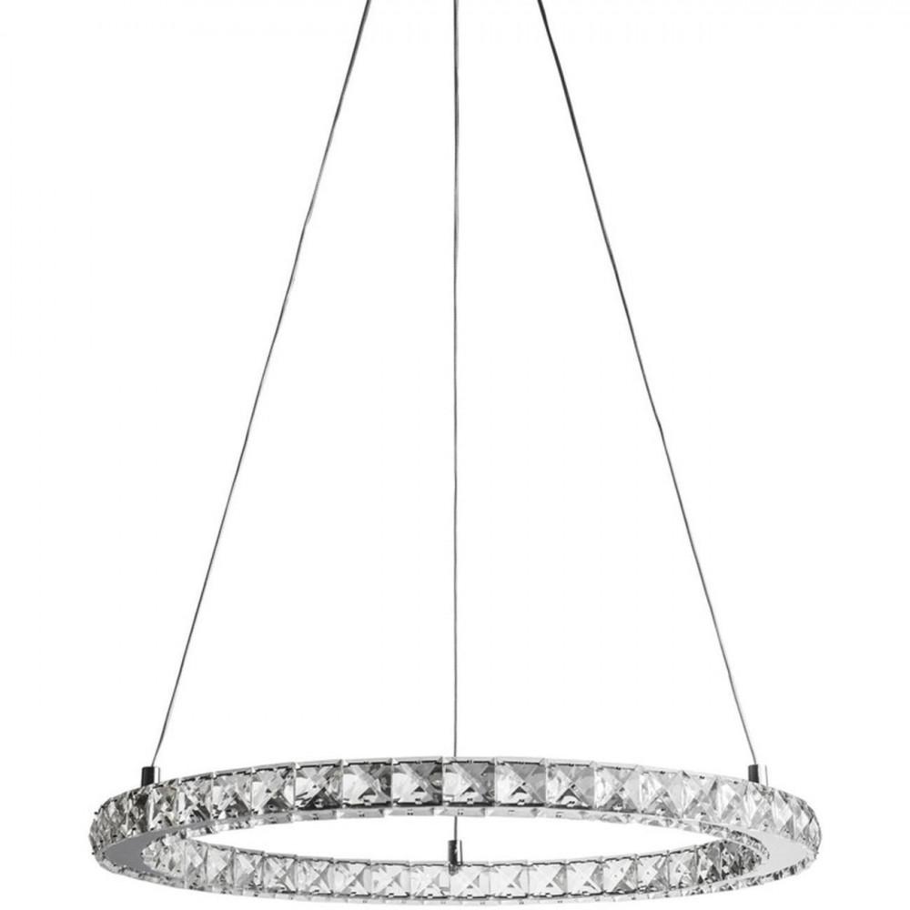 Suspension ronde à strass avec LED RONDO Argent