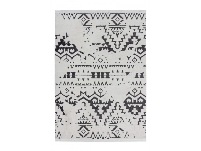 Tapis HIMBA Blanc / Noir 80cm x 150cm