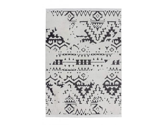 Tapis HIMBA Blanc / Noir 200cm x 290cm