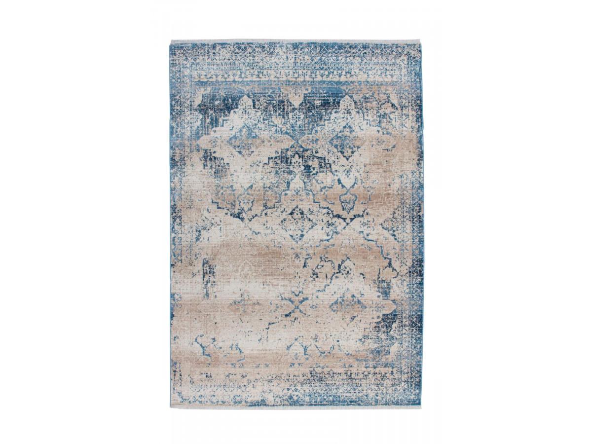 Tapis FONZY Crème / Bleu 80cm x 150cm