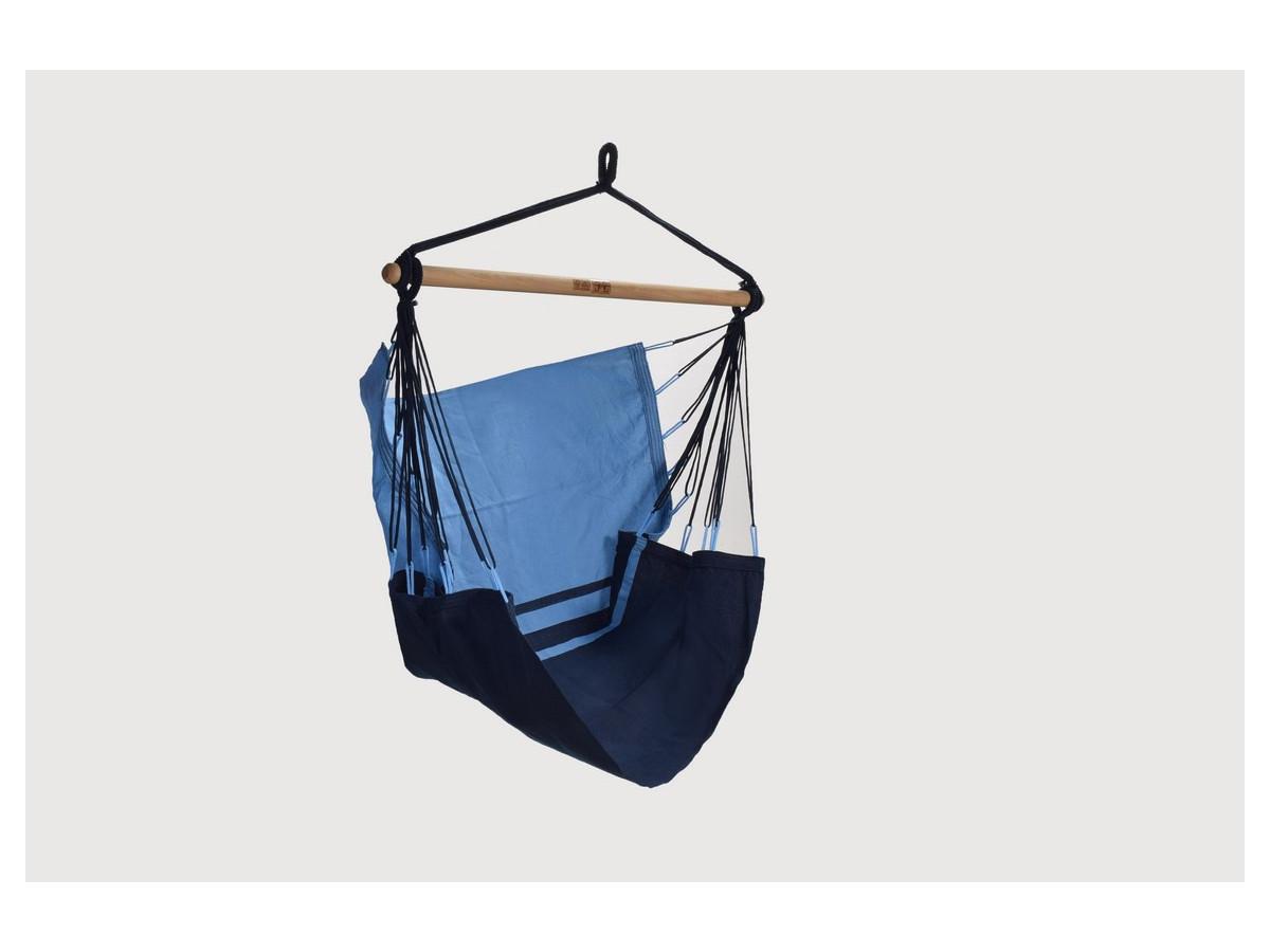 Chaise -Hamac MANAUS Bleu Marine/ Bleu Clair