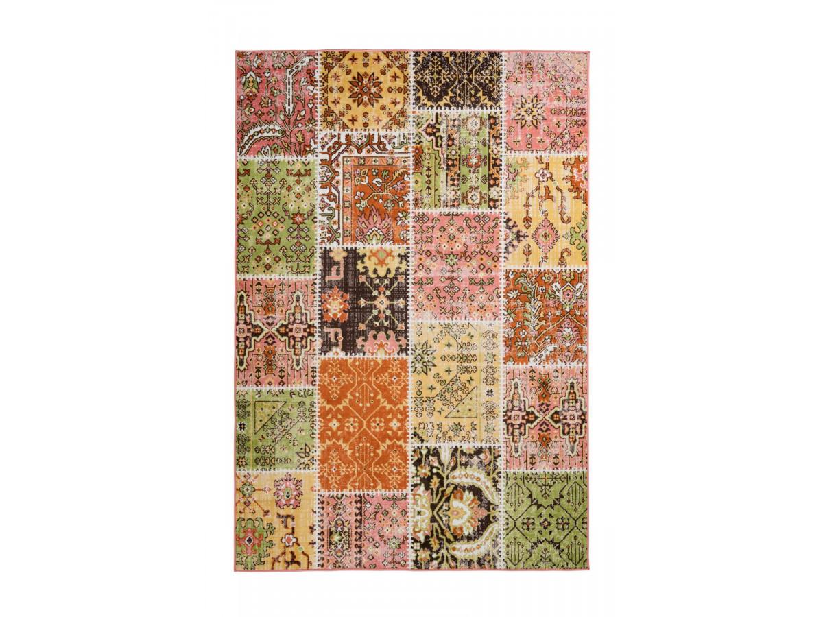 Tapis STINSON Multicolor / Jaune / Rouge / Vert 120cm x 180cm