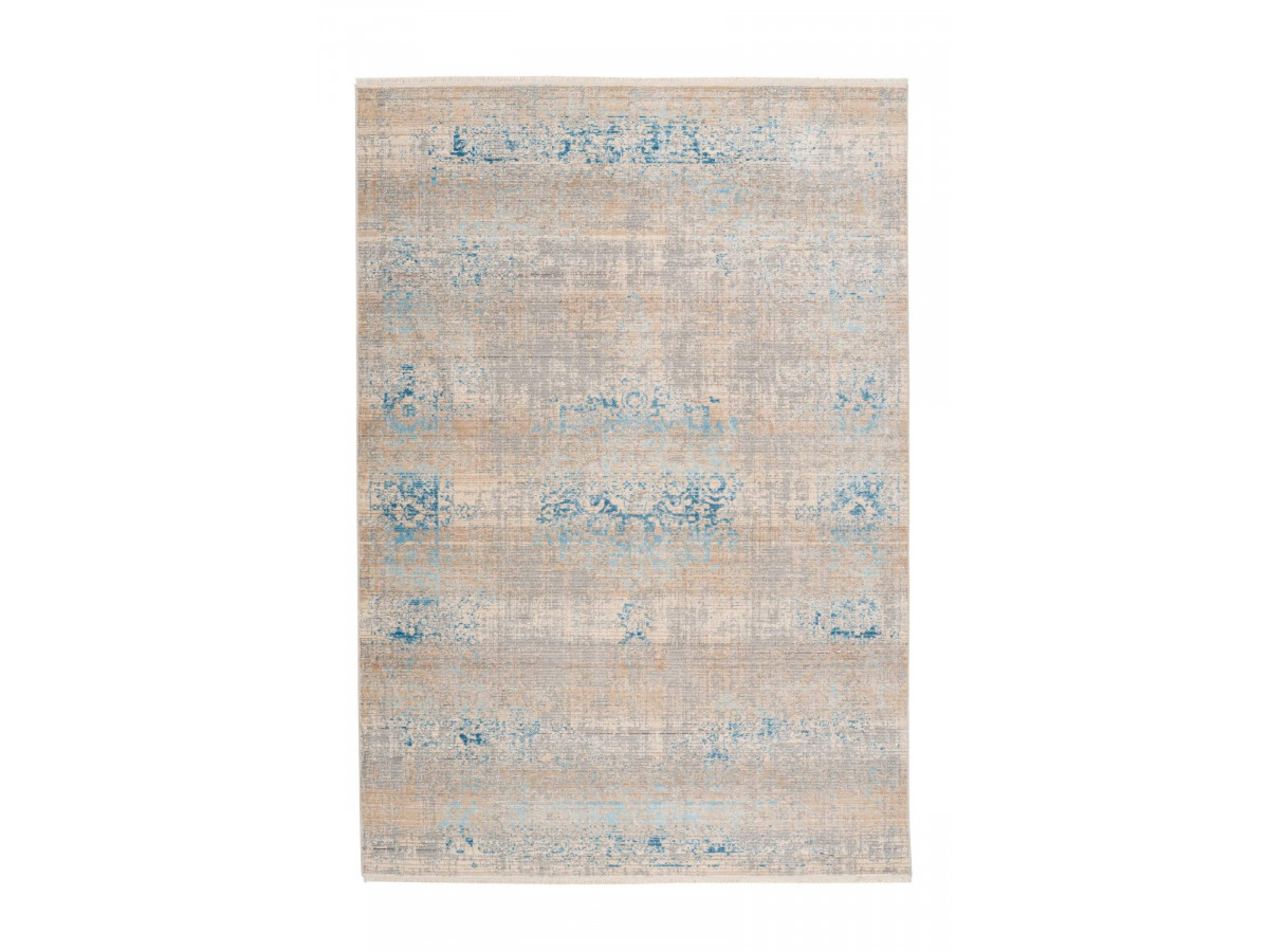 Tapis FAKIR Gris / Turquoise 120cm x 180cm