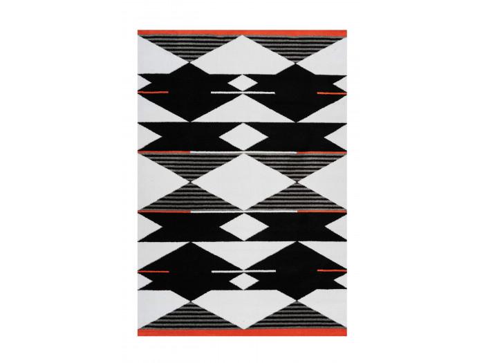 Tapis OMAN Noir / Blanc / Rouge 160cm x 230cm